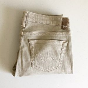 AG Adriano Goldschmied Jeans - AG The Capri Beige Cropped Jeans Sz 26